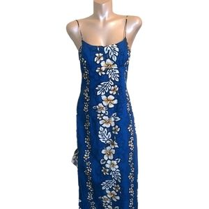 BLUE/YELLOW FLORAL SUNDRESS LARGE
